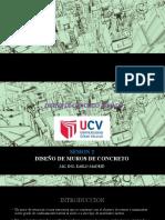 SESIÓN II DISEÑO DE MUROS DE-CONCRETO