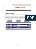 Requirement Traceability Template