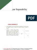 Linear seperability