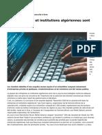 les-entreprises-et-institutions-algeriennes-sont-mal-protegees