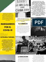 Amarillo Negro Gris Ciudad Foto Creativo Tríptico Folleto