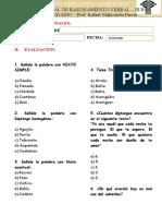PRACTICA MENSUAL DE LENGUAJE 1RO