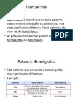 Homonímia (Apresentação)
