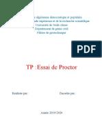 Essai de Proctor
