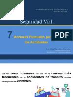 7 Acciones Puntuales para Prevenir Accidentes -CRH- Semiario Regional de Educación y Seguridad Vial