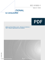 IEC 61892-1 - Mobile and fixed offshore units – Electrical installations – Part 1 General requirements and conditions.pdf
