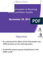 November 29 2019 Effetcs of Stormwater on Receving Waters