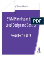 November 15 2019 SWM Planning and Lot Level Design and Control