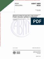 NBR 5626 - 2020 Sistemas Prediais de Agua Fria e Agua Quente - Projeto, Execução, Operação e Manutenção-Desbloqueado