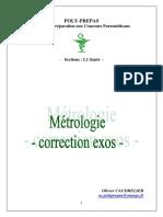 Métrologie - correction exos