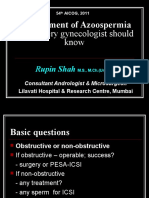 Zero Sperm Count - What the Gynecologist Should Know by Dr Rupin Shah, MD