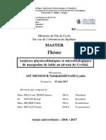Analyses physicochimiques et microbiologiques de margarine de table au niveau de Cevital (1).pdf