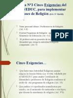 Exigencias de mineduc para realizar clases de religión evangélica