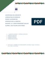 INTRODUCCION AL DERECHO; NORMAS Y ARISTOTOLES