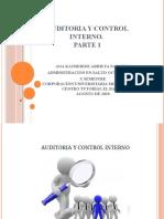 AUDITORÍA Y CONTROL INTERNO, PARTE 1