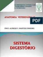 AULAS DE ANAT VET II - 2 S 2018 -  DIGESTÓRIO - ALUNOS -   ALFREDO V. M. VIMIEIRO 2018.ppt