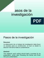 PROCESO DE LA INVESTIGACION 1