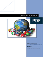 DIVISION POLITICA  BRENDA JIMENEZ