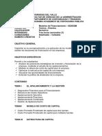 PROGRAMA MODELOS DE FINANCIAMIENTO