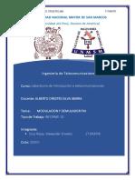 informe 10 de laboratorio de  introducion  a telecomunicaciones
