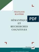 François Rastier - Sémantique et recherches cognitives