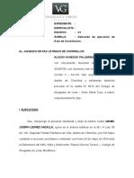 DEMANDA DE EJECUCIÓN DE ACTA DE CONC. PALOMINO