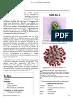 SARS-CoV-2 - Wikipedia, la enciclopedia libre