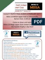 Mitre 10 Mega Upper Hutt United Cricket Club