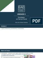 Estratégias em Serviço Social - Slides de Aula - Unidade II
