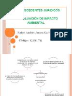 Los Antecedentes jurídicos Evaluacion de Impacto Ambiental Aporte Individual