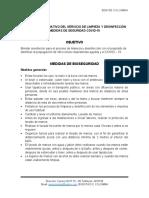 PROTOCOLO OPERATIVO DEL SERVICIO DE LIMPIEZA Y DESINFECCIÓN 2