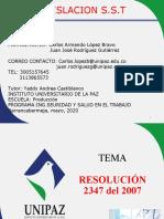 l expocision R2347 de 2007