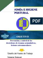 ERGONOMIA-HIGIENE POSTURAL-MANEJO DE CARGAS