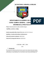 Informe de Quimica Practica 3