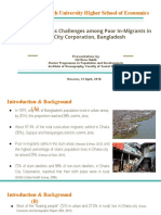 Presentation_Health Care Access Challenges among Poor In-Migrants in Dhaka City Corporation, Bangladesh