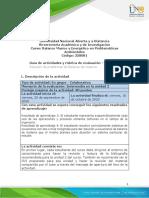 Guía de actividades y rúbrica de evaluación - Unidad 2 - Tarea 3 - Solución de problemas de Balance de materia