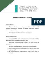 informe tecnico UPSA El Hatillo
