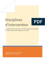Disciplines d'intervention
