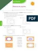 DIFERENCIA DE CONJUNTOS - 5TO DE PRIAMRIA