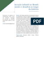 A educação infantil no Brasil