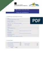 Ficha Candidatura - Instrumentos de Sopro