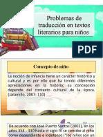 Problemas de traduccion en textos literarios para niños