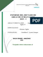 INFORME DE ÁREAS DE SUBSANACIÓN
