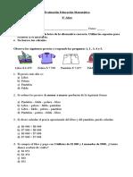 Ev.  E. Matemática 4° Años