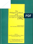 The Philippine Political and Economic Situation in View of 1992