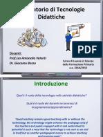 Lezione 1 e 2 tic e tecnologie didattiche