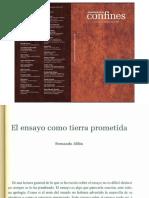 Alfón, Fernando (2018) El ensayo como tierra prometida