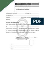 DECLARACION JURADA UGEL-C-2017-FMT