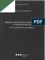 Widow Jose - Orden Político Cristiano y Modernidad