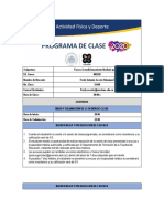 Programa de clase - Fuerza Acondicionamiento mediada por TIC 15449- Martes  8-10 pm